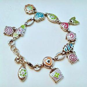 BRIGHTON Enameled Charm Bracelet